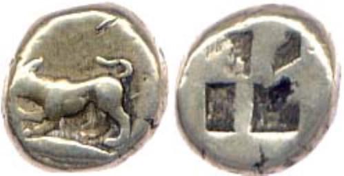 Obolo de electrum de Cyzicus, Mysia 0509_0516